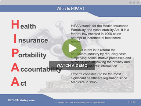 hipaa training, certification, and compliance